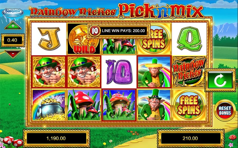 rainbow riches pick n mix high rtp